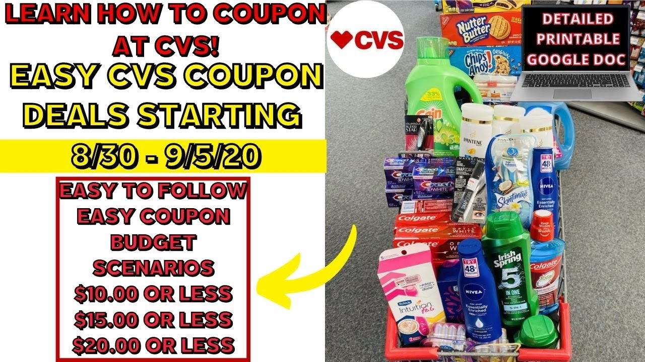 Learn How To Extreme Coupon At Cvs Easy Cvs Coupon Matchups Deals Starting 8 30 Beginner Friendly Youtube