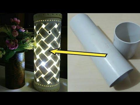 Lampu Hias dari paralon Motif Anyaman Part-1