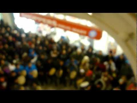 Idle No More Flash Mob Round Dance, Midtown Plaza, Saskatoon, SK. Video 1 of 2