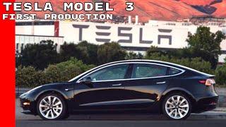 First Production 2018 Tesla Model 3