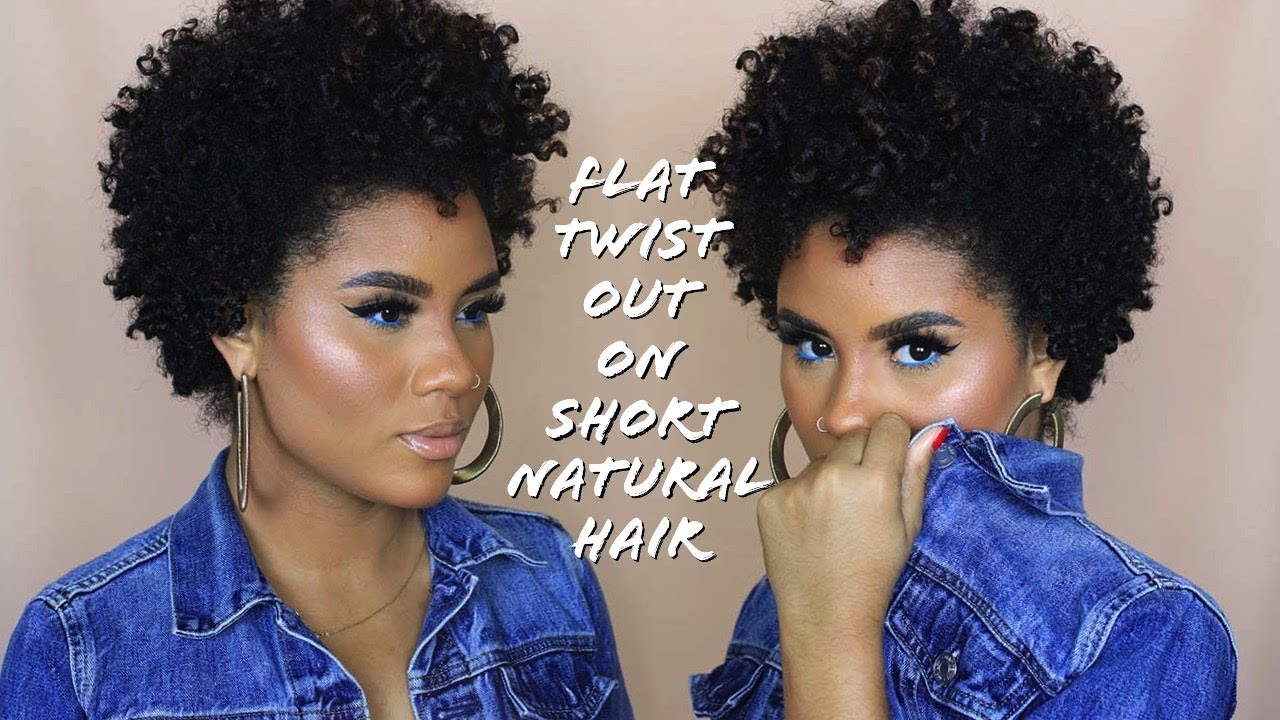 Flat Twist Out On Short Natural Hair September Curlbox 2018