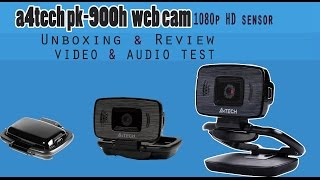 A4TECH PK-900H/1080p Full HD sensor/mini Unboxing & Review,video&audio test