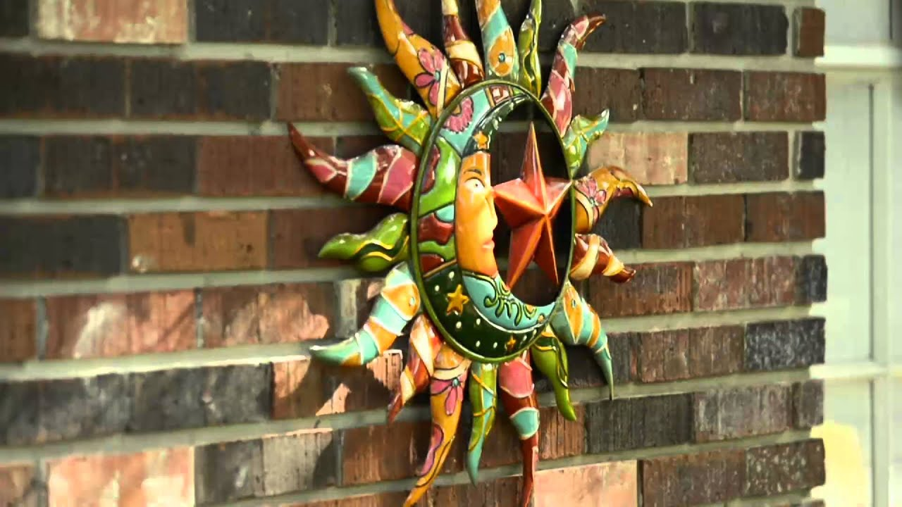 Sun And Moon Wall Art plow & hearth talavera sun & moon wall art on qvc - youtube