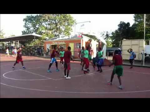 Antigua High School Basketball Game 2016 Video 1