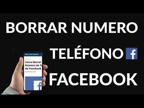 Cómo Borrar mi Número de Teléfono de Facebook