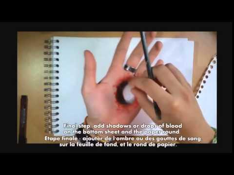 Comment faire une fausse blessure en dessin youtube - Comment faire une fausse blessure ...