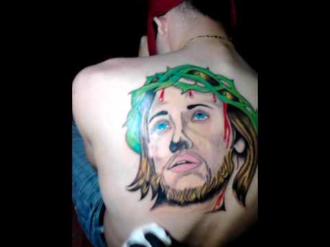 Tatuaje De Jesus Cara De Cristo Espalda Youtube