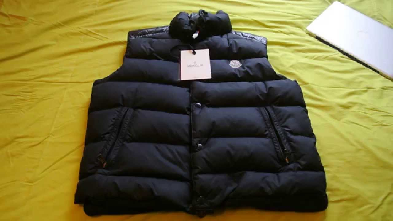 moncler red body warmer