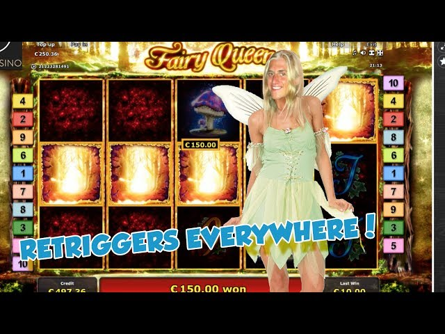 BIG WIN!!!!! Fairy Queen bonus round from LIVE STREAM (Casino Games)