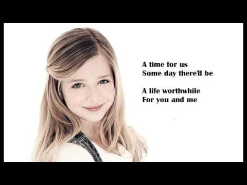 Jackie Evancho  A Time for us Lyric