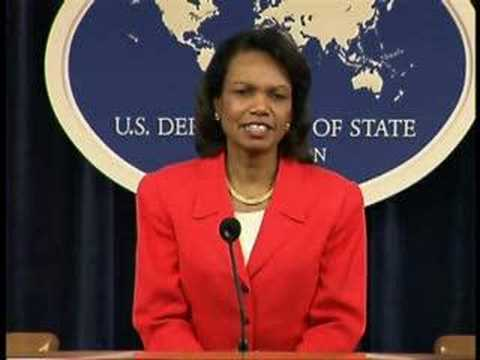 Condi Rice congratulates Obama, McCain & Clinton campaigns
