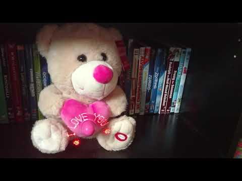 Valentine's Day singing message fan White Bear plush