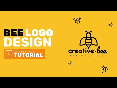 Bee Logo Design in Adobe Illustrator - Adobe Illustrator Tutorial thumbnail