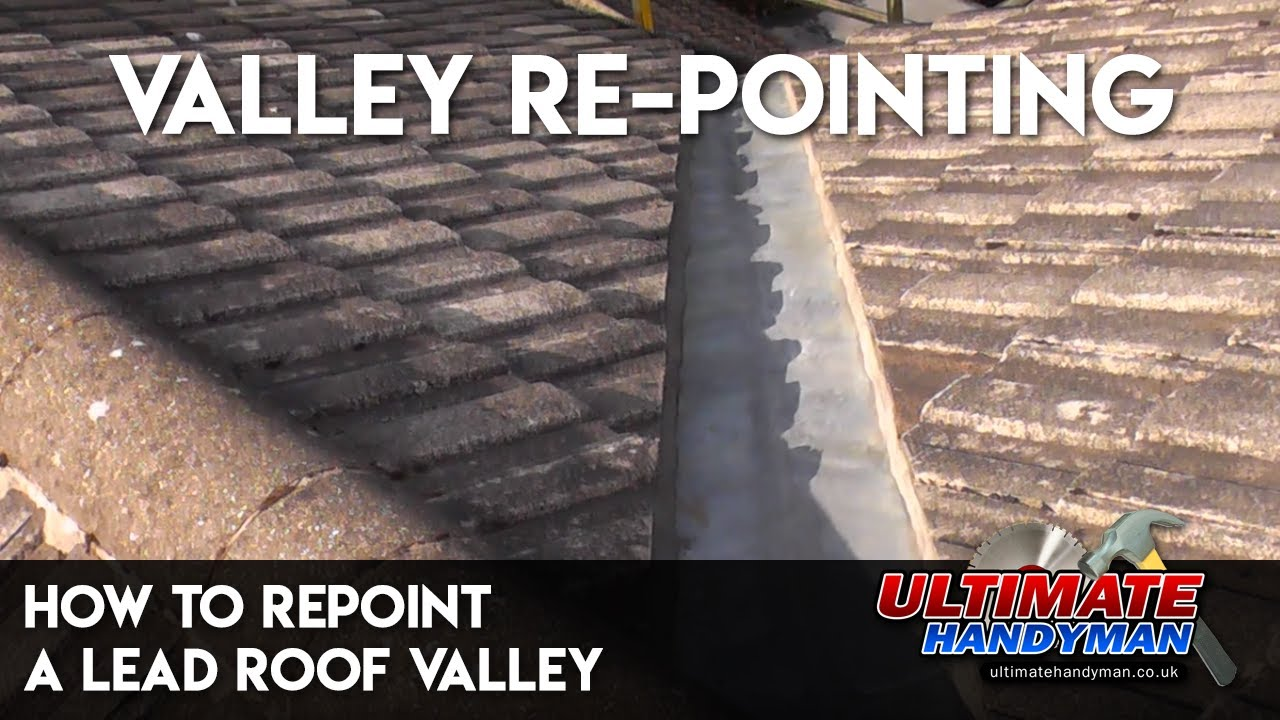 How To Repoint A Lead Roof Valley Youtube