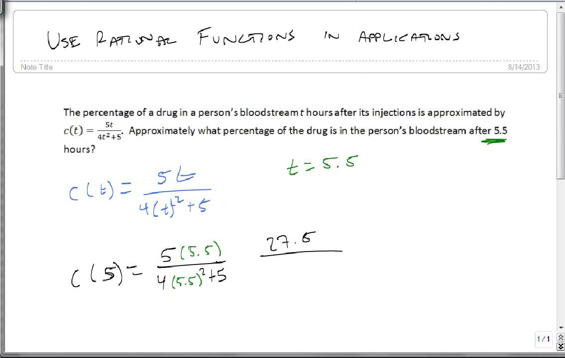 6 1 5 Use Rational Functions in Applications - YouTube