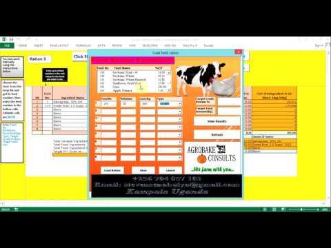 Animal feed ration fomulation software..by Steven Senabulya