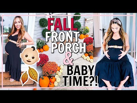 FALL FRONT PORCH DECOR AND WHEN'S THE BABY COMING?! | Alexandra Beuter