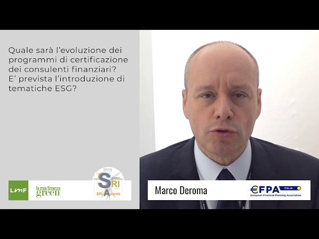 Marco Deroma (EFPA) - Salone SRI 2018