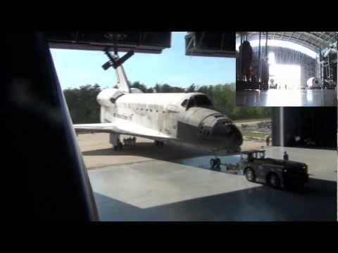 Space Shuttle Discovery FINAL Wheels Stop at Smithsonian