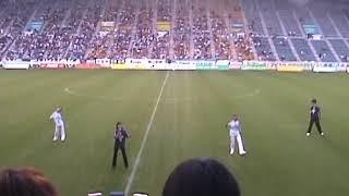 CUBE 2003年7月5日(土) 東平尾公園博多の森球技場 アビスパ福岡 VS 湘南ベルマーレ 試合開始前