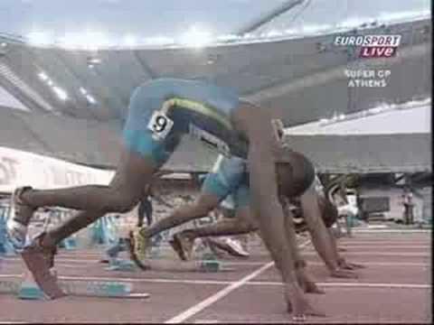 Asafa Powell WR 9.77 Atenas