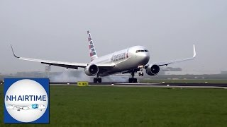 First AMERICAN AIRLINES BOEING 767-300ER at SCHIPHOL AIRPORT