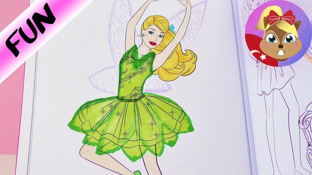 Barbie Boyama Kitabi Barbie Periye Dönüşüyor Benimle Oyna Youtube