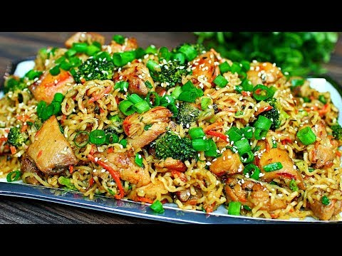Chicken And Vegetable Stir Fry Noodles Recipe - Easy Chicken Stir Fry Noodles