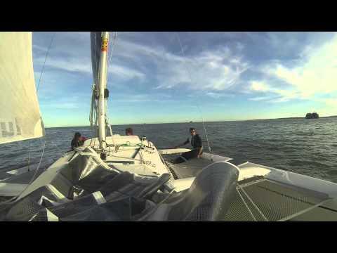 Sailing A Corsair Dash 750 Mk2 Trimaran In Portsmouth