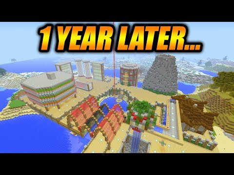 This Is What I Made In Minecraft Survival In Only 1 Year (Minecraft Survival World Tour)