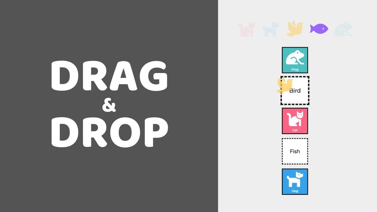 HTML Drag and Drop API