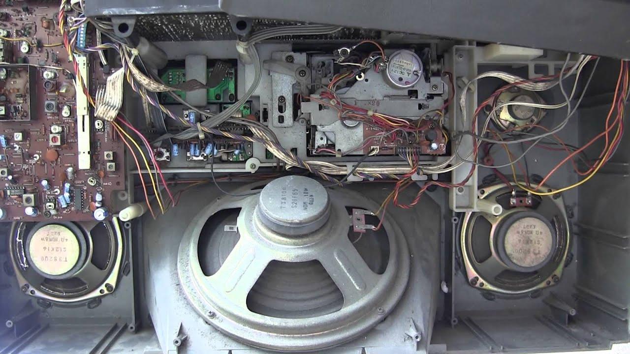Sanyo M X960k Big Ben Super Woofer Boombox Inside