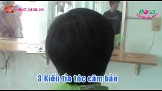 Cắt tóc 3 Kiểu múa kéo tỉa căn bản