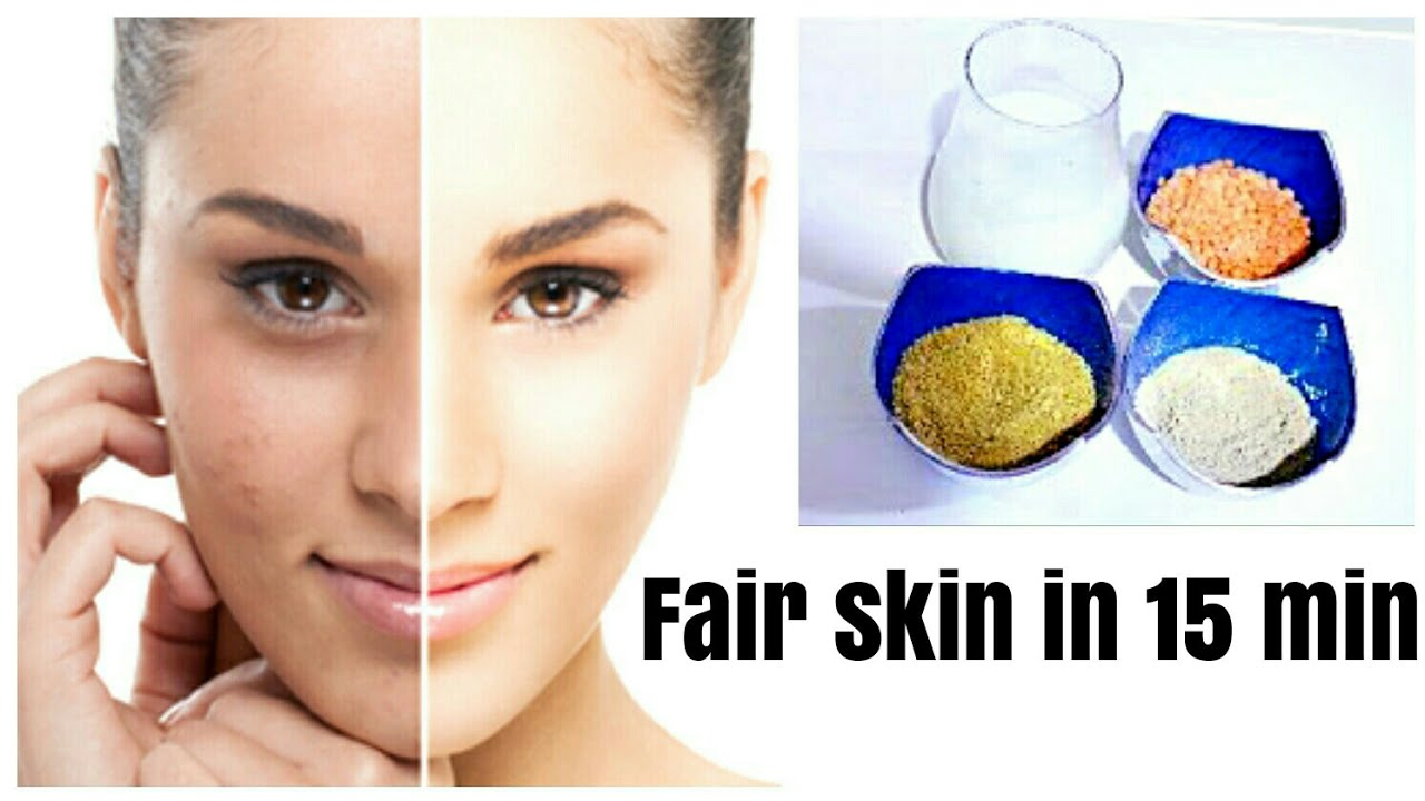 Get Fair & glowing Skin In Just 8 Minutes Naturally /Very Effective Home  Remedy