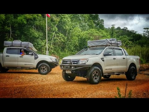 New ford ranger t6 vs align mr25 fpv-phantom4  เขากระโจม