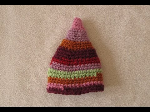 VERY EASY crochet elf hat - fun crochet baby / toddler beanie