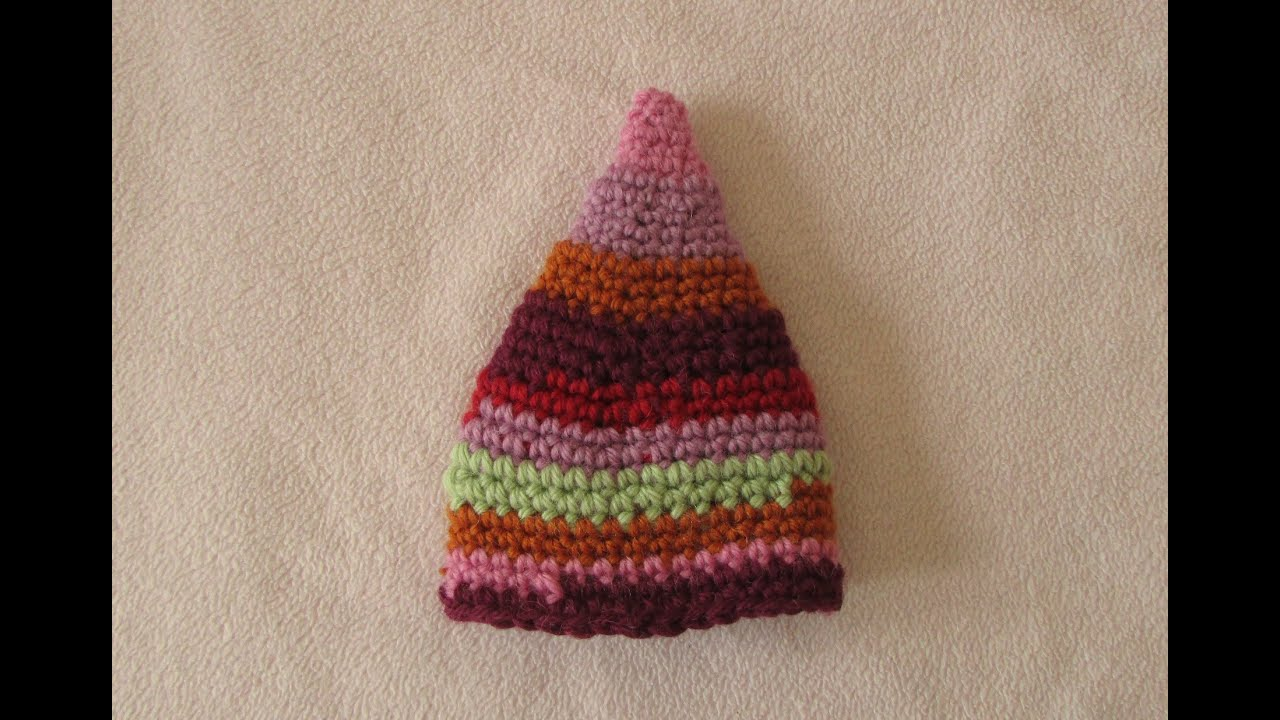 VERY EASY crochet elf hat - fun crochet baby / toddler beanie - YouTube