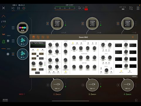 ZEEON Synth -  Over 200 New Patches by Sound Of Izrael - Let's Explore - Live iPad Demo