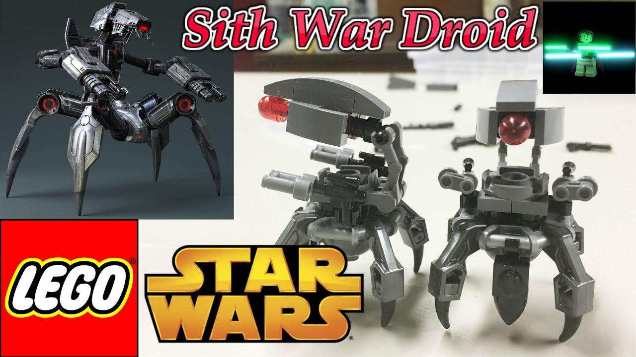 Lego Star Wars Custom Old Republic Sith War Droid Moc Youtube