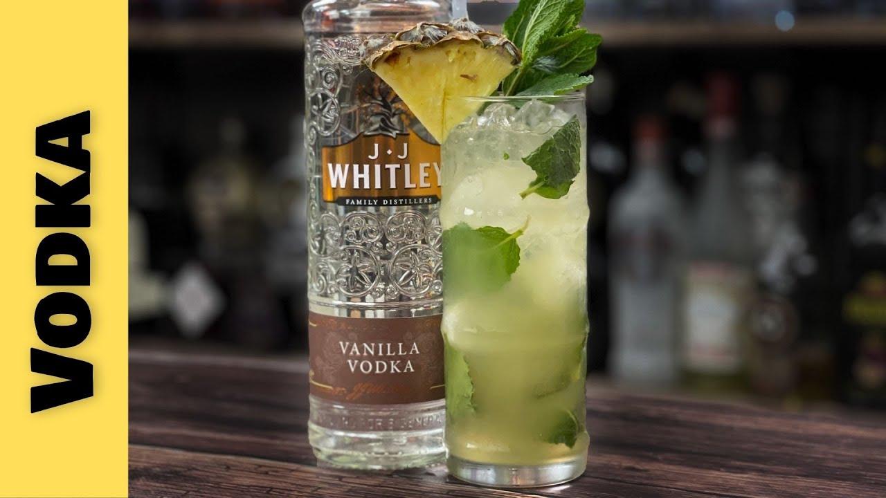 Easy Vodka Cocktail Recipes - VANILLA VODKA and PINEAPPLE MOJITO