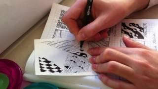 6 урок по рисованию. (Зентангл. Дудлинг. Раскраски антистресс.)