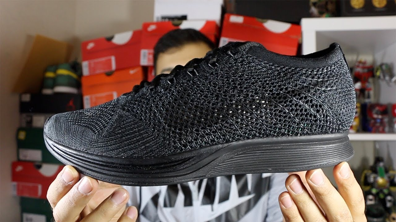 20d5b6830c4 Black Friday Pt 4! Nike Flyknit Racer Triple Black Review! - YouTube