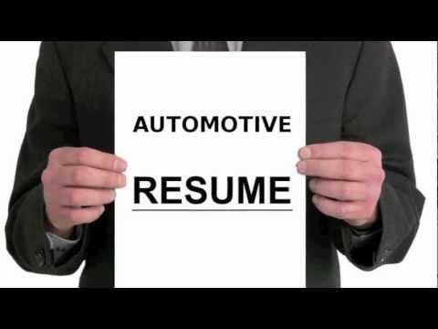 Automotive Resume Writing Tutorial