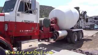 """Concrete Truck Pouring Cement Mixing Heavy Duty Semi Work Trucks Ready Mix Pouring Mixer Pump 1/2"""""""