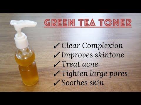 Homemade Green Tea Toner   How To Make Toner Easily At Home   Summer Skin Care  