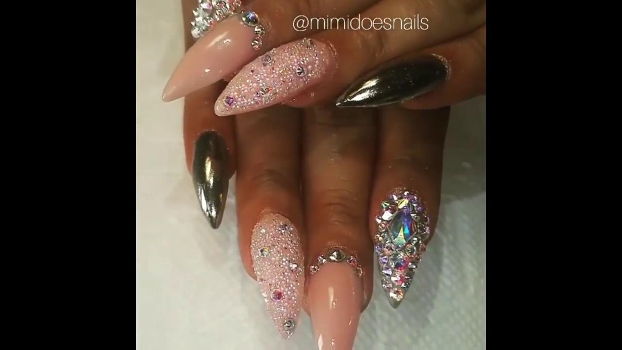 Ногти гламурные