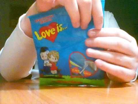 Распаковка вкладышей от жвачек Love is #3