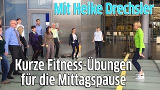 Olympia-Siegerin Heike Drechsler zeigt Übungen für die Mittagspause - Fit am Arbeitsplatz