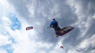 Кайт Лебедевка Киев.  Классные прыжки и полеты на кайте.