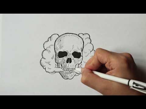 Как нарисовать скелет